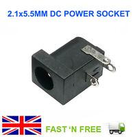 BLACK 5.5 X 2.1MM 12V DC POWER BARREL JACK SOCKET PCB MOUNT CONNECTOR FOR LAPTOP