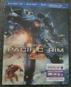 Pacific Rim 3D Blu-ray + Blu-ray + Dvd (3 Disc Set) Lenticular Cover Brand...