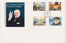 Unaddressed Isle of Man FDC First Day Cover 1990 Sir Winston Churchill 10% off 5