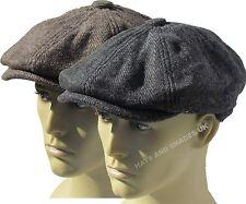 Peaky Blinders Tweed Newsboy Hat herringbone Gatsby Cap Flat 8 Panel Baker Boy