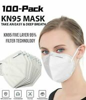 100 PCS 5 Layers Face Mask Mouth & Nose Protector Respirator Masks USA Seller