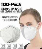100 PCS 5 Layers Face Mask Mouth & Nose Protector Respirator Masks USA Seller