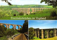 AK, Vogtland, Eisenbahnviadukte, drei Abb., um 1995