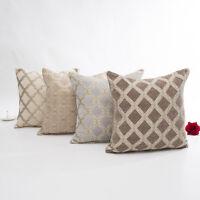 18 x 18 Inch Thicken Chenille Plaid Waist Sofa Throw Cushion Cover Pillow Case