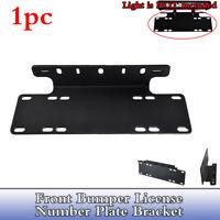 1xBumper License Number Plate Mount Bracket  Frame Holder LED Driving Light Bar