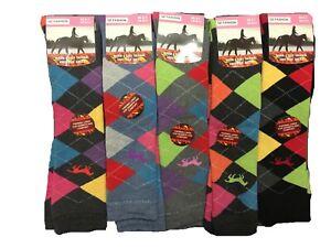 2 x Ladies New Knee High Horse riding Skiing Warm thermal Equestrian Socks 4-7