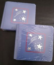 "(2) Creative Memories 7""x7"" Scrapbook Album & Pages - Blue Silver Stars Pizzazz"