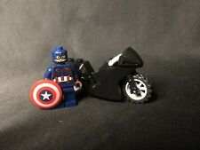 LEGO Marvel Super Heroes Captain America Minifigure w/ Motorcycle 76032 Genuine