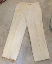 Women Leisure Pants Trousers Off White Lined Medium Harlan M Inseam 29 Harlan