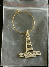 RED LOBSTER Restaurant LIGHTHOUSE CHARM: with Wine Glass Ring or for Bracelet