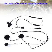 2 PIN Full Face Helmet Motorbike Race Clip Headset PTT For Baofeng Kenwood Radio