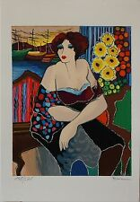 "Patricia Govezensky- ""Mary"" Hand Signed Numbered Serigraph Modern Figurative Art"