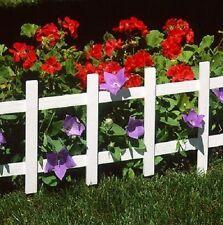 """(3) ea Suncast Fe336 00006000 Pk 4 pack 33"""" White Cape Cod Plastic Garden Border Fence"""