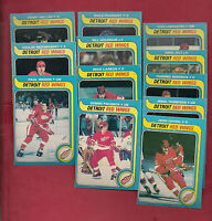 1979-80 OPC DETROIT RED WINGS  CARD LOT