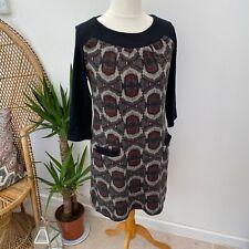 Aryeh Anthropologie Knit Tunic Dress Stretchy Comfy Sz L 12 14