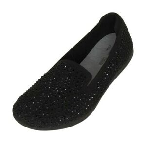 CLOUDSTEPPERS by Clarks Slip-On Women's Sz 8.5 M Knit Loafers Black A391466