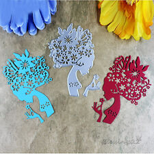 1Pc Flower Fairy Metal Craft Cutting Dies DIY For Scrapbooking Photo Template