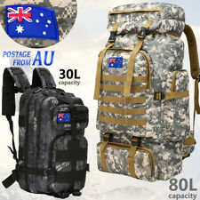 30L/40L/80L Camping Hiking Bag Army Military Tactical Backpack Rucksack travel