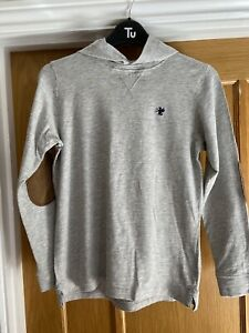 Boys Grey Jumper With Hood From NEXT Age 10 Years Height  140cm