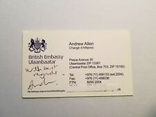 Andrew Allen - Charge d'Affaies British Embassy Ulaanbaatar - AUTO Business Card