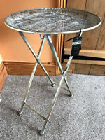 New Antique Vintage Metal Folding Butlers Serving Tray Side End Table Stand 65cm