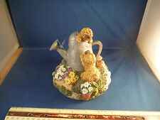 "New Puppies On A Watering Can ""You've Got A Friend"" Music Box NIB"