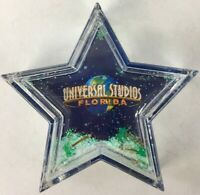 "Universal Studios Florida 4"" Liquid Filled Star 2000s Glitter Paperweight - New"