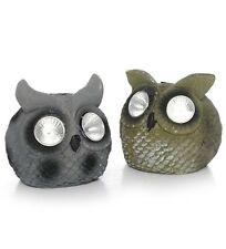 "1 Outdoor 5"" Solar Powered OWL LED Garden Rock Light, No batteries needed!!!"