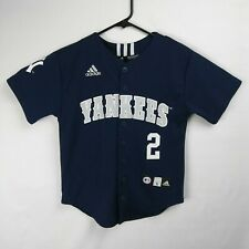 ADIDAS New York Yankees Derek Jeter Baseball Jersey MLB Youth Size 8 Small