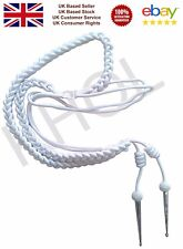 Aiguillette White Silk with Silver Tags Army Air Force Navy