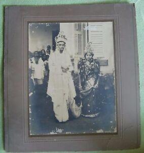 VINTAGE ORIGINAL BLACK & WHITE PHOTOGRAPH OF BENGALI ROYAL WEDDING (COUPLE) 09