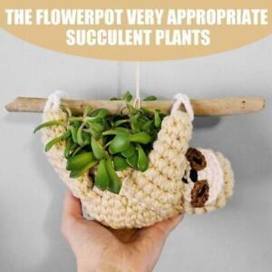 Hanging Sloth Shaped Ceramic Planter Pot Garden Flower/Succulent Home Decor B4E0
