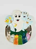 Vintage WCL Halloween Cute Ghosts Ceramic Candy Dish
