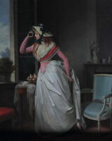 """perfect oil painting handpainted on canvas """"A woman's telescope  """"N10599"""