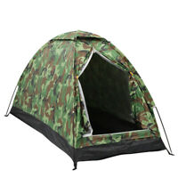 US Outdoor 1 Person 4 Season Camping Hiking Waterproof Folding Tent Camouflage