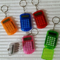Useful Plastic Pocket With Keyring 8 Digit Display LCD Screen Mini Calculator 5H