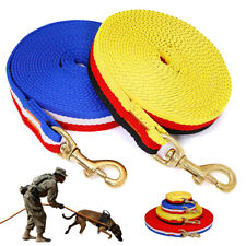 Nylon Durable Dog Training Leash 10/16/33/66ft Large Dog Tracking Webbing Leads