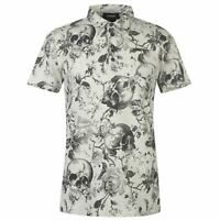 Firetrap Mens Printed Polo Shirt Classic Fit Tee Top Everyday Short Sleeve
