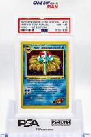 PSA 8 NM-MINT Misty's Tentcaruel 10/132 1ST EDITION Gym Heroes HOLO Pokemon Card