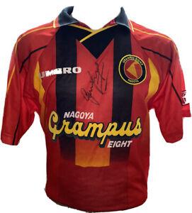 Signed Rare Nagoya Grampus Eight Shirt by England Legend Gary Lineker Italia 90