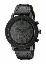 Citizen Eco-Drive Men's AT2205-01E Dress BRT Chronograph Leather Strap Watch New