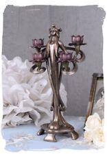 Candle Holder Art Nouveau Vintage Chandelier Type Female Figure