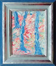 Michael Feicht (*1959) Rosa Kirsch-blüte im Obstgarten 1995, Öl, 25 x 19 cm