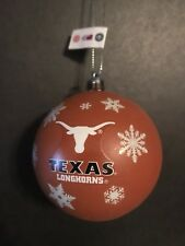 "Texas Longhorns UT 3"" Ball Christmas/Holiday Ornament *NEW* Orange"