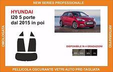 pellicola oscurante vetri pre-tagliata Hyundai I20 5p dal 2015 kit posteriore