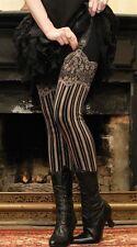 Victorian Trading Co Jezebel Faux Garter Leggings Burlesque Size LG/XL