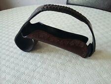 Real Leather madeira Wine bottle holder