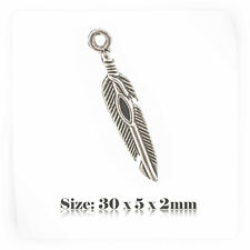 20 Tibetan Silver Antique Vintage Style Feather Charms Pendant Steampunk 094s