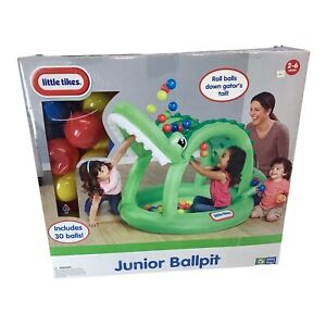 Little Tikes Junior Ball pit. 30 Balls Included Balls Roll Down Gators Tail S51