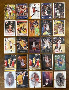 KOBE BRYANT LEBRON JAMES & MICHAEL JORDAN BASKETBALL CARD LOT w/INSERTS, #d READ